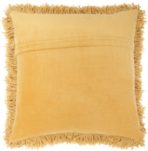 "Load image into Gallery viewer, Kathy Ireland Home Curly Shag Yellow Throw Pillow TL208 20""X20"""