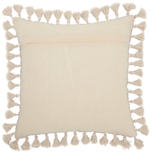 "Load image into Gallery viewer, Mina Victory Life Styles Embroidered Burst Grey Throw Pillow ST407 18""X18"""