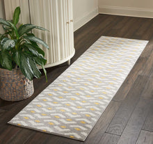 Load image into Gallery viewer, Nourison Harper DS300 Grey 8' Runner Hallway Rug DS300 Grey