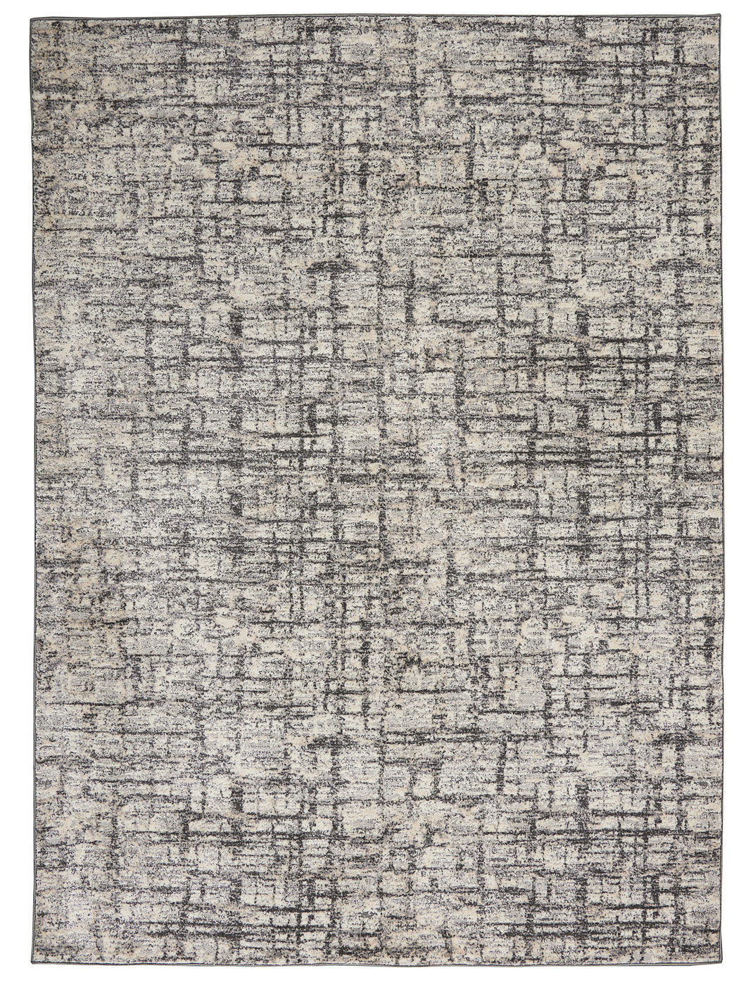 Nourison Ck950 Rush 6' x 9' Area Rug CK952 Ivory/Grey