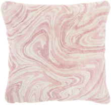"Load image into Gallery viewer, Mina Victory Life Styles Plush Marble Blush Throw Pillow BJ400 20""X20"""