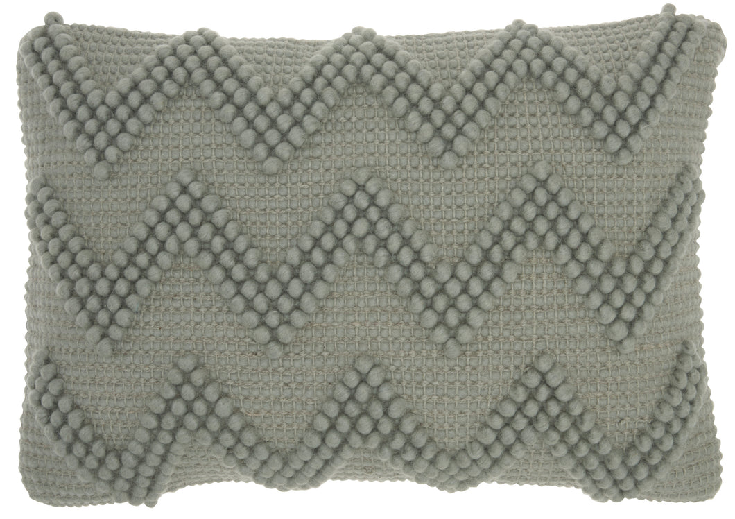 Mina Victory Life Styles Large Chevron Light Grey Lumbar Throw Pillow DC173 14