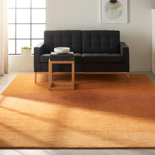 Load image into Gallery viewer, Calvin Klein Linear Glow GLO01 Brown 8'x11' Rug GLO01 Cumin