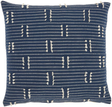 "Load image into Gallery viewer, Kathy Ireland Pillow Broken Stripes Navy Throw Pillow SS300 18""X18"""