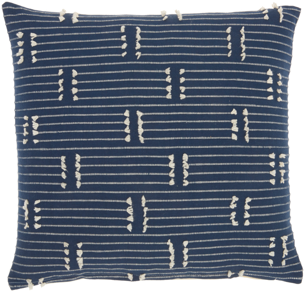 Kathy Ireland Pillow Broken Stripes Navy Throw Pillow SS300 18