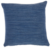 "Load image into Gallery viewer, Mina Victory Life Styles Textured Lines Navy Throw Pillow SS917 18"" x 18"""