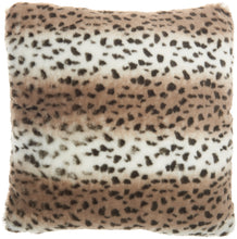 "Load image into Gallery viewer, Mina Victory Deer Faux Fur Beige Throw Pillow VV465 20"" X 20"""
