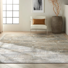 Load image into Gallery viewer, Nourison Ck950 Rush 9' x 12' Area Rug CK951 Grey/Beige