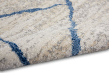 Load image into Gallery viewer, Calvin Klein River Flow 8'x10' Ivory Blue Area Rug RFV05 Ivory Blue