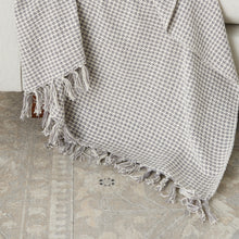 "Load image into Gallery viewer, Mina Victory Cotton Grey Throw Blanket SH470 50""X60"""
