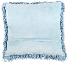 "Load image into Gallery viewer, Mina Victory Shag Soft Ribbon Shag Ocean Throw Pillow TL048 20""X20"""
