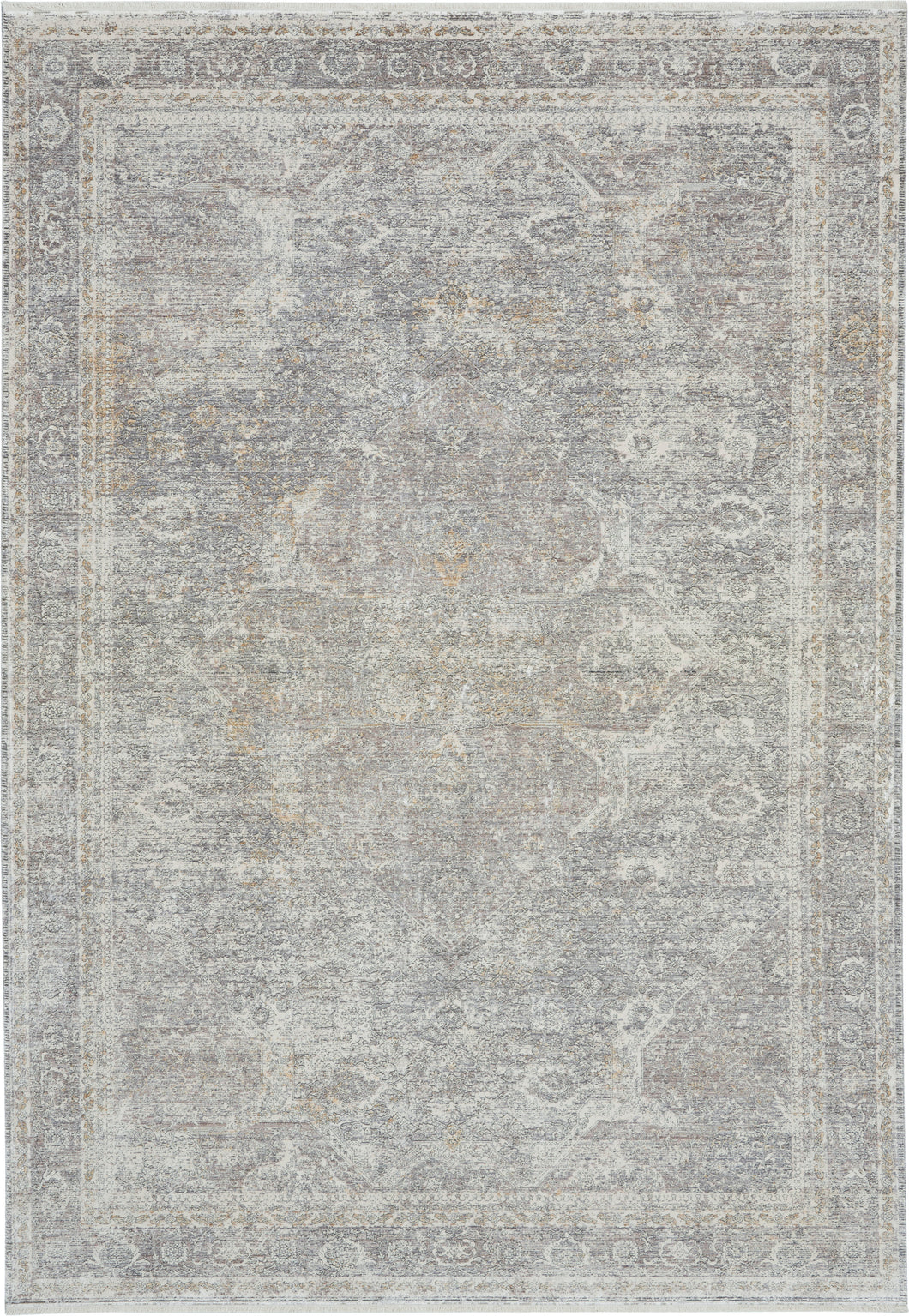Nourison Starry Nights 5' x 7' Area Rug STN03 Silver/Cream