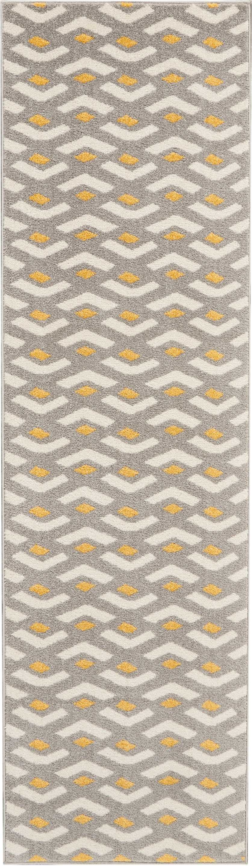 Nourison Harper DS300 Grey 8' Runner Hallway Rug DS300 Grey