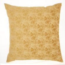 "Load image into Gallery viewer, Mina Victory Life Styles Erased Velvet Mustard Throw Pillow ET438 22"" x 22"""