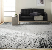 Load image into Gallery viewer, Calvin Klein Ck50 Balian 10' x 14' Area Rug CK55 Black/Silver
