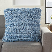 "Load image into Gallery viewer, Mina Victory Shag Ocean Loop Shag Throw Pillow DL658 20"" x 20"""