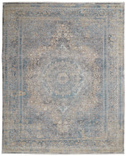 Load image into Gallery viewer, Nourison Starry Nights 8' x 10' Cream and Blue Vintage Area Rug STN06 Cream Blue