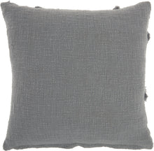 "Load image into Gallery viewer, Nourison Life Styles Distressed Diamond Grey Throw Pillow SH018 18""X18"""