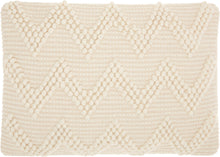 "Load image into Gallery viewer, Mina Victory Life Styles Large Chevron Ivory Throw Pillow DC173 - Lumbar 14"" x 20"""