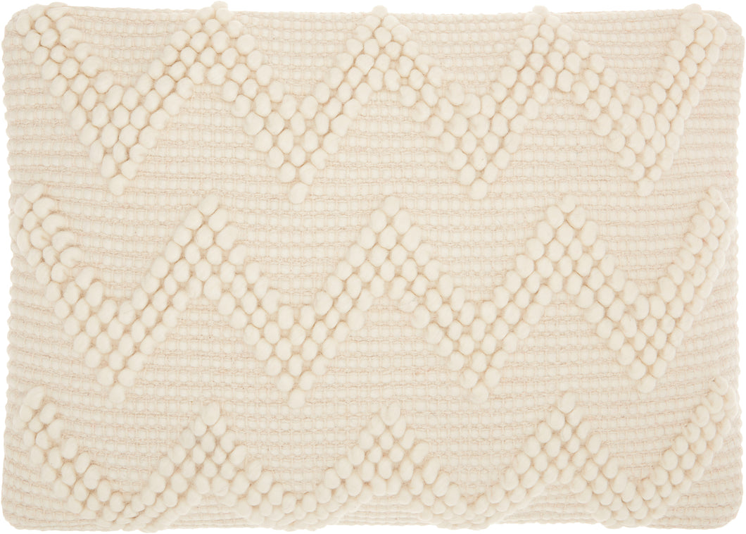 Mina Victory Life Styles Large Chevron Ivory Throw Pillow DC173 - Lumbar 14