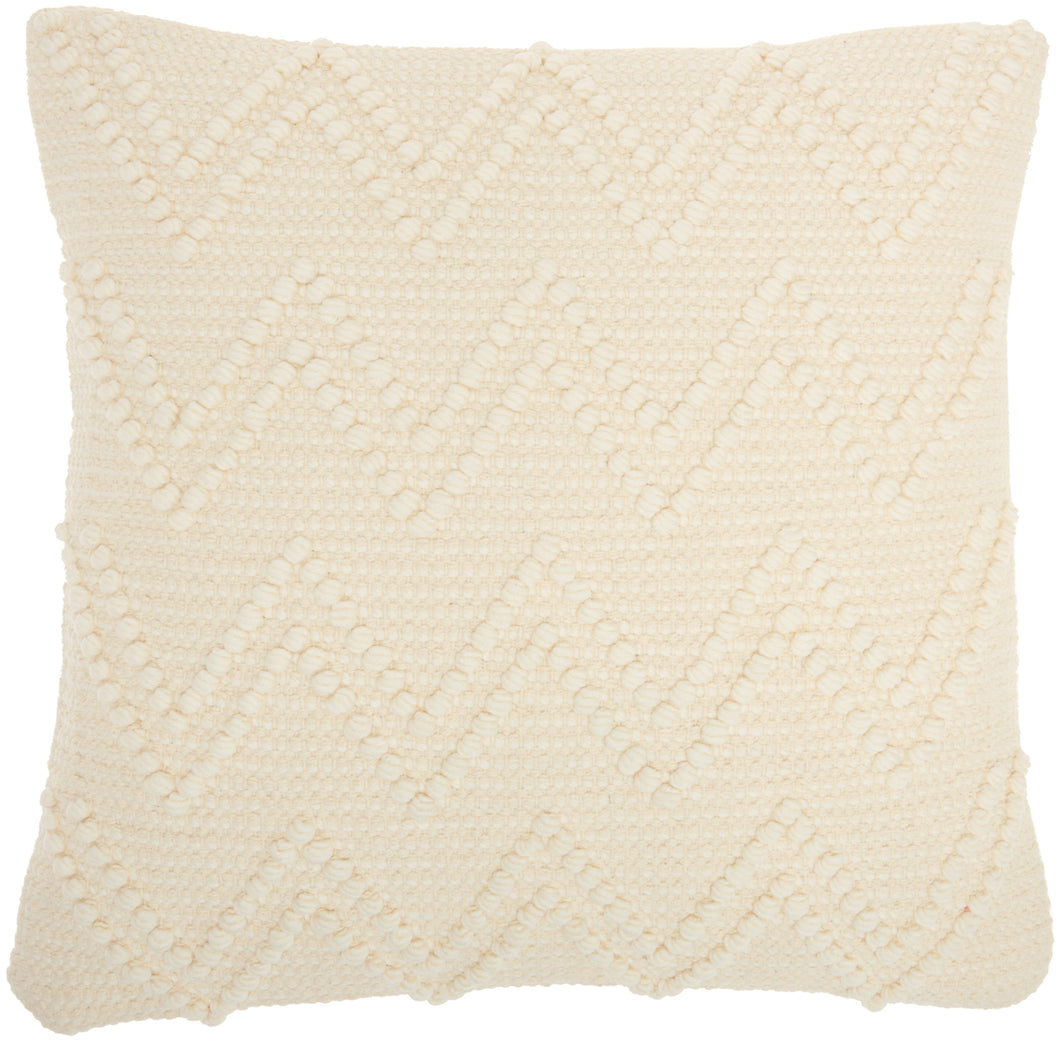 Mina Victory Life Styles Chevron Loops Ivory Throw Pillow GC104 18