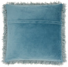 "Load image into Gallery viewer, Mina Victory Yarn Shimmer Celadon Shag Throw Pillow TL004 20"" x 20"""