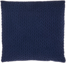 "Load image into Gallery viewer, Mina Victory Life Styles Quilted Chevron Navy Throw Pillow ET299 22""X22"""