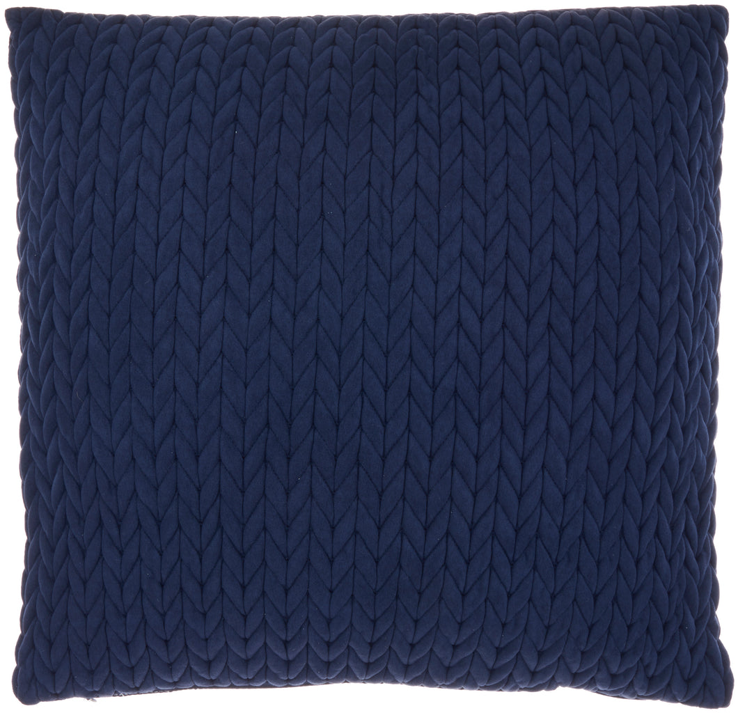 Mina Victory Life Styles Quilted Chevron Navy Throw Pillow ET299 22