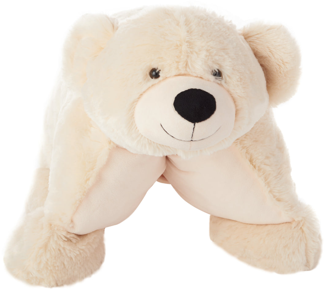 Mina Victory Plushlines Ivory Bear Plush Animal Pillow Toy N0582 18