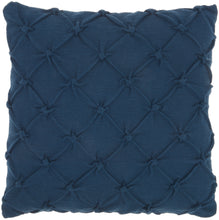 "Load image into Gallery viewer, Kathy Ireland Pillow Pin Tuck Navy Throw Pillow AA242 - Throw 18""X18"""