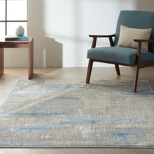 Load image into Gallery viewer, Nourison Ck950 Rush 6' x 9' Area Rug CK951 Blue/Beige