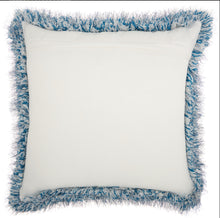"Load image into Gallery viewer, Mina Victory Shag Candy Lurex Shag Navy Throw Pillow WE403 20"" x 20"""