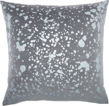 "Load image into Gallery viewer, Nourison Luminescence Metallic Splash Light Grey Throw Pillow QY168 18""X18"""