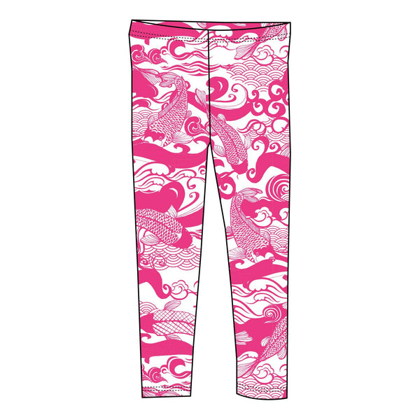 Pink waves leggings