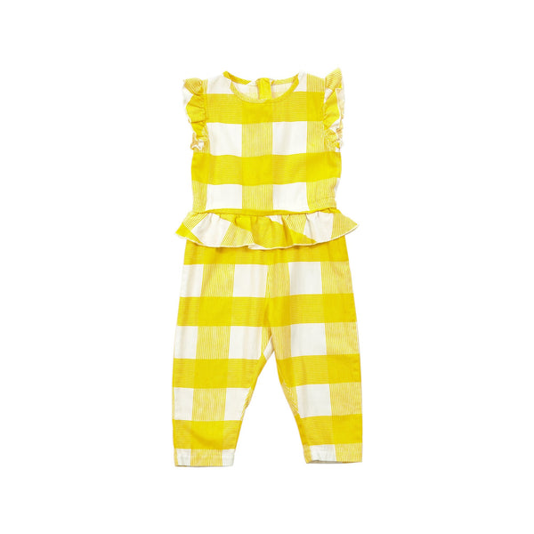 OVERSIZED GINGHAM JUMPSUIT