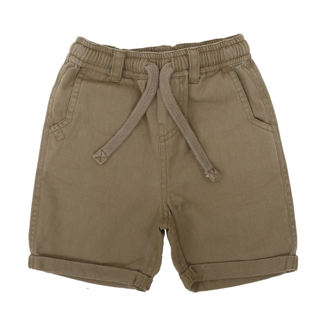 CHARCOAL SOLID PULL ON SHORT