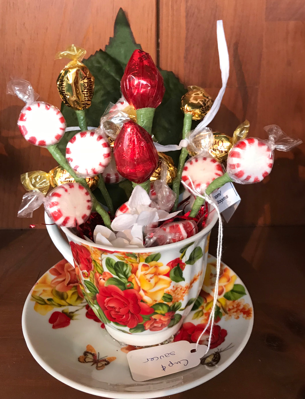 Cup and Saucer Bouquet