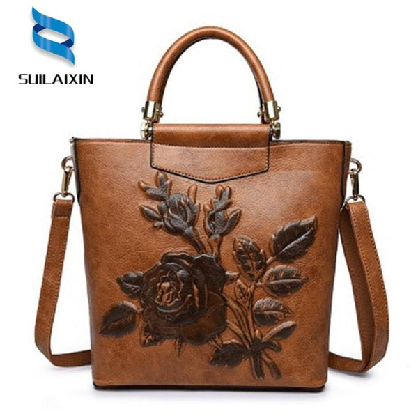 Retro Floral Handbag High quality