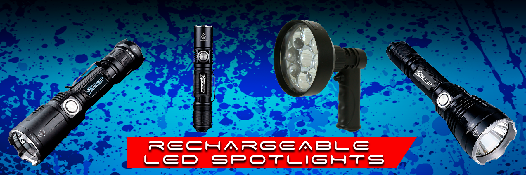Rechargeable LED Spotlights