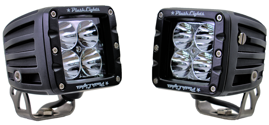 PlashLights LED Driving Light Cubes High Watt Extreme Output Bright