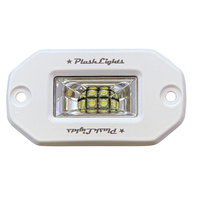White 20W Low Profile LED Light - 120° Scene Flood - Flush Mount