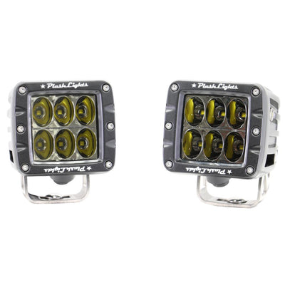 Driving Lights LED Plash Rigid Ridgid Dually cube pod 3 inch 2  6 LEDs bumper mounted brightest LED Osram CREE USA light
