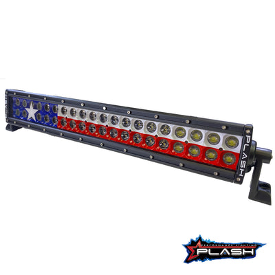 40 Inch Texas Flag Light Bar Red White Blue LED Lights Texan Backlit