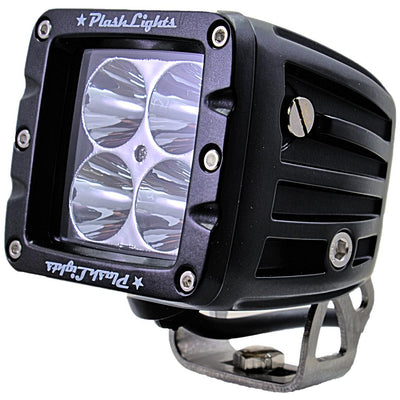 dependable work light - extreme distance - spot - stainless steel - marine - quality led cubes