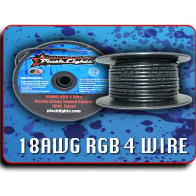 18AWG RGB 4 Conductor Wire - 150ft. Spool