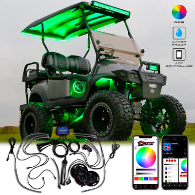 Golf Cart Under glow LED Lighting RGB Bluetooth app controlled brightest waterproof