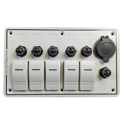 5 Switch Panel with Breakers - Marine