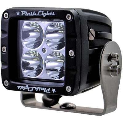 PlashLights 2 inch OR 3 INCH LED Light bar marine rated LED boat spreader t-top reverse saltwater grab rail