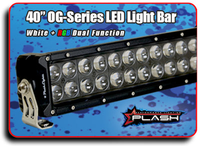 "40"" Blacked Out OG-Series LED Light Bar + RGB Backlighting"