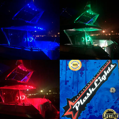 24V RGB Color Changing Strip Light for Boat Kayak Truck or Bar IP68 Marine Rated waterproof